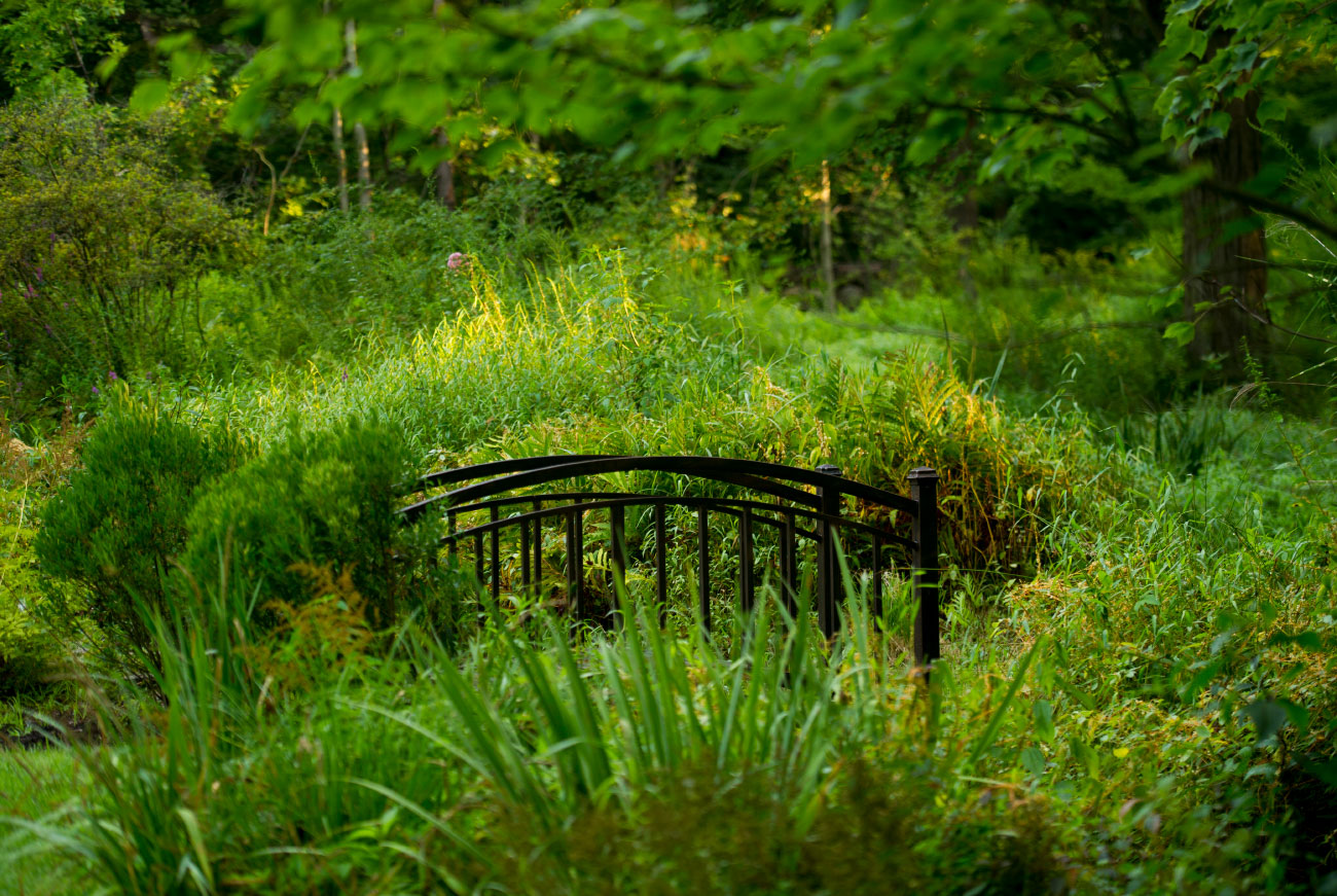The LaurelRock Company - Residential Landscaping in CT - Back Country Manor - Garden Bridge