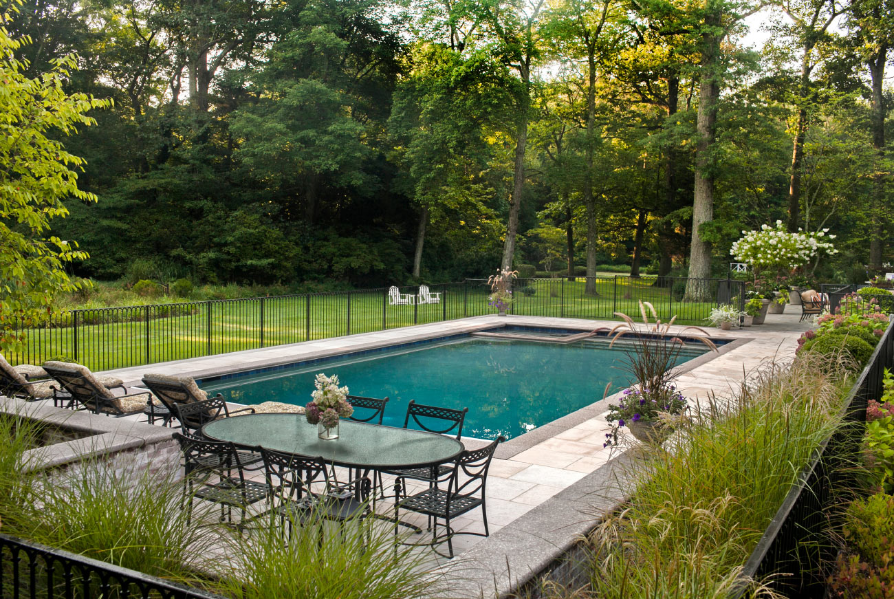 The LaurelRock Company - Residential Landscaping in CT - Back Country Manor - Poolside Paradise