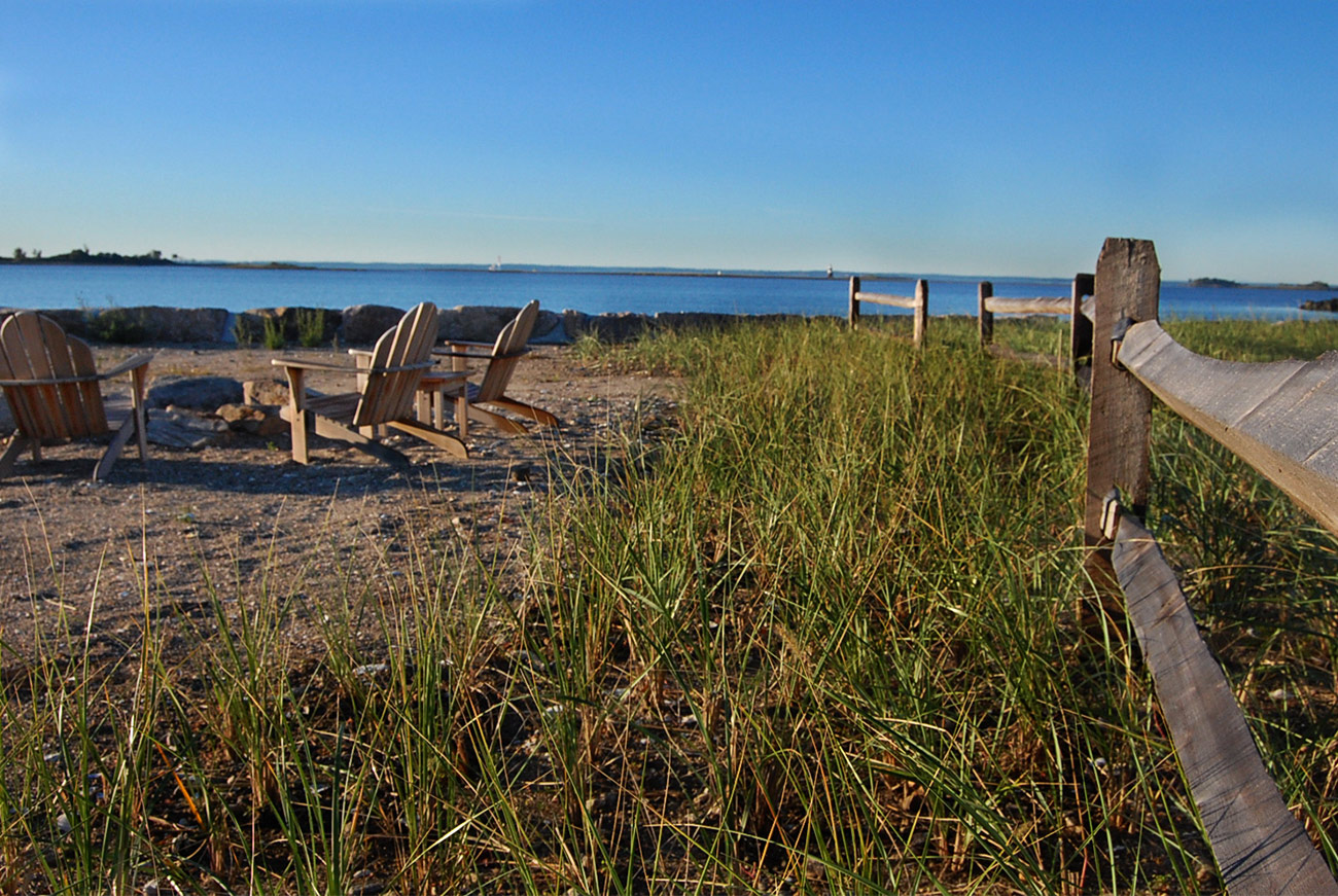 The LaurelRock Company - Residential Landscaping in CT - Bluff Point - Seaside Gathering Spot