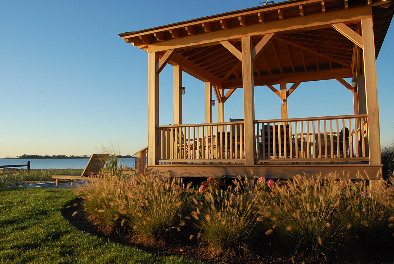The LaurelRock Company - Residential Landscaping in CT - Bluff Point - Pergola for Outdoor Living