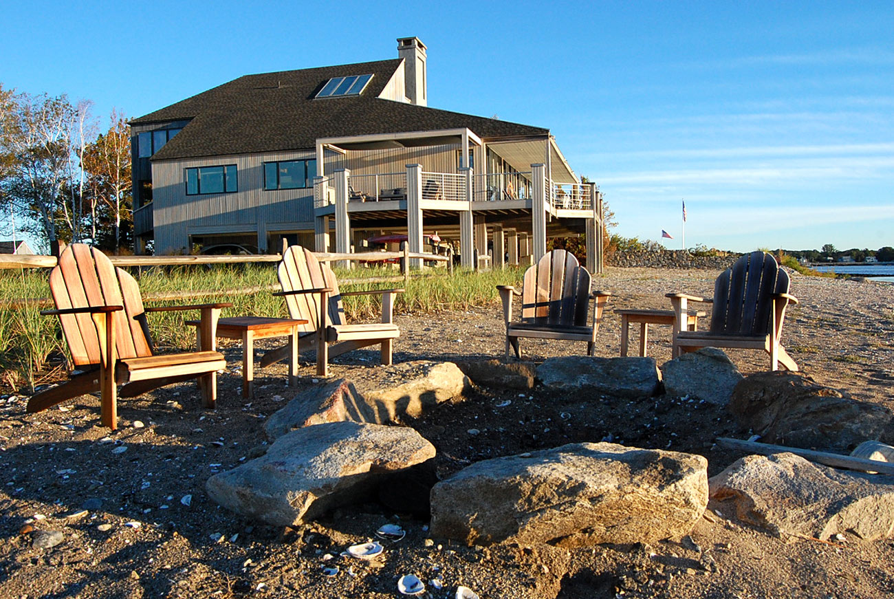 The LaurelRock Company - Residential Landscaping in CT - Bluff Point - Firepit