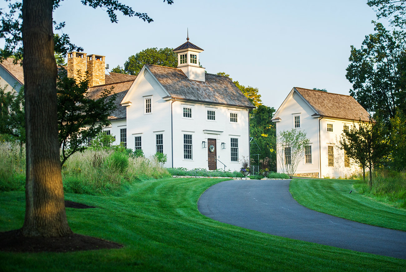 The LaurelRock Company - Residential Landscaping in Wilton CT - High Meadow Farm - Modern Farmhouse