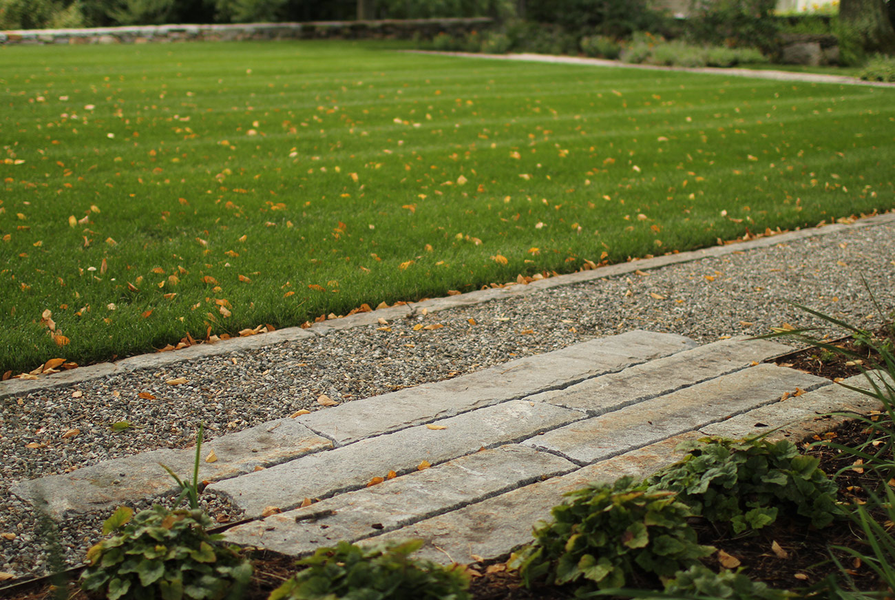 The LaurelRock Company - Residential Landscaping in Wilton CT - High Meadow Farm - Lawn and Pavers