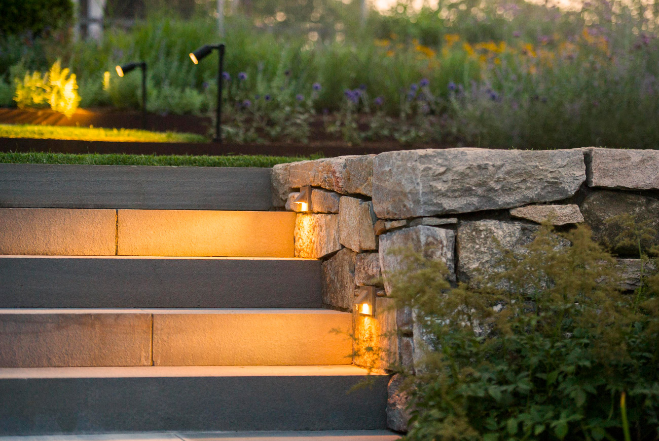 The LaurelRock Company - Residential Landscaping in Wilton CT - High Meadow Farm - Landscape Lighting